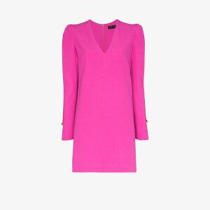베르사체 레이디스 파티 드레스 미니 길이 원피스 드레스 [안전 핀 미니 드레스] 핑크
