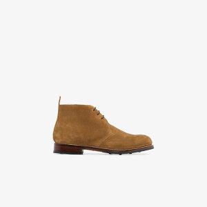 グレンソン Grenson メンズ ブーツ シューズ・靴【Brown Wendell Suede Boots】brown