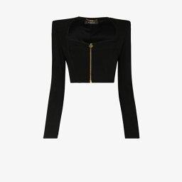 ヴェルサーチ Versace レディース ベアトップ・チューブトップ・クロップド トップス【square-neck cropped top】black