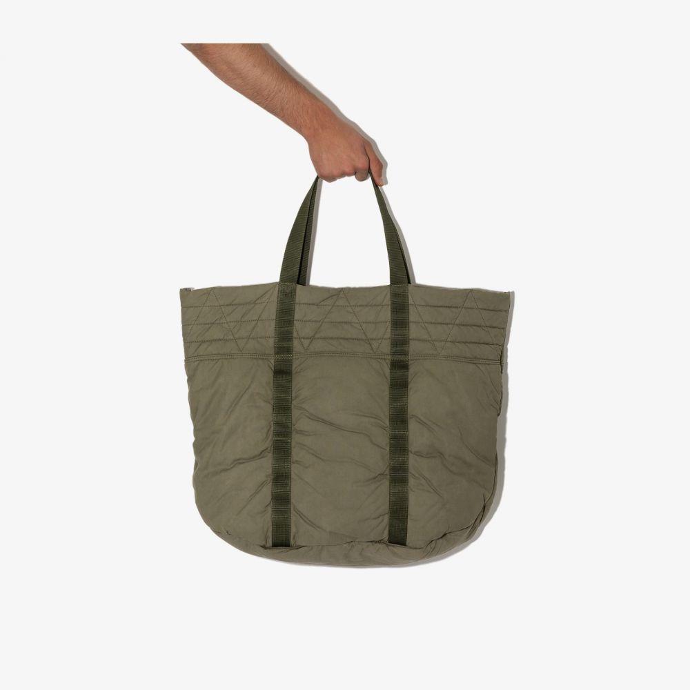 メンズバッグ, トートバッグ  visvim green Nap quilted cotton tote baggreen