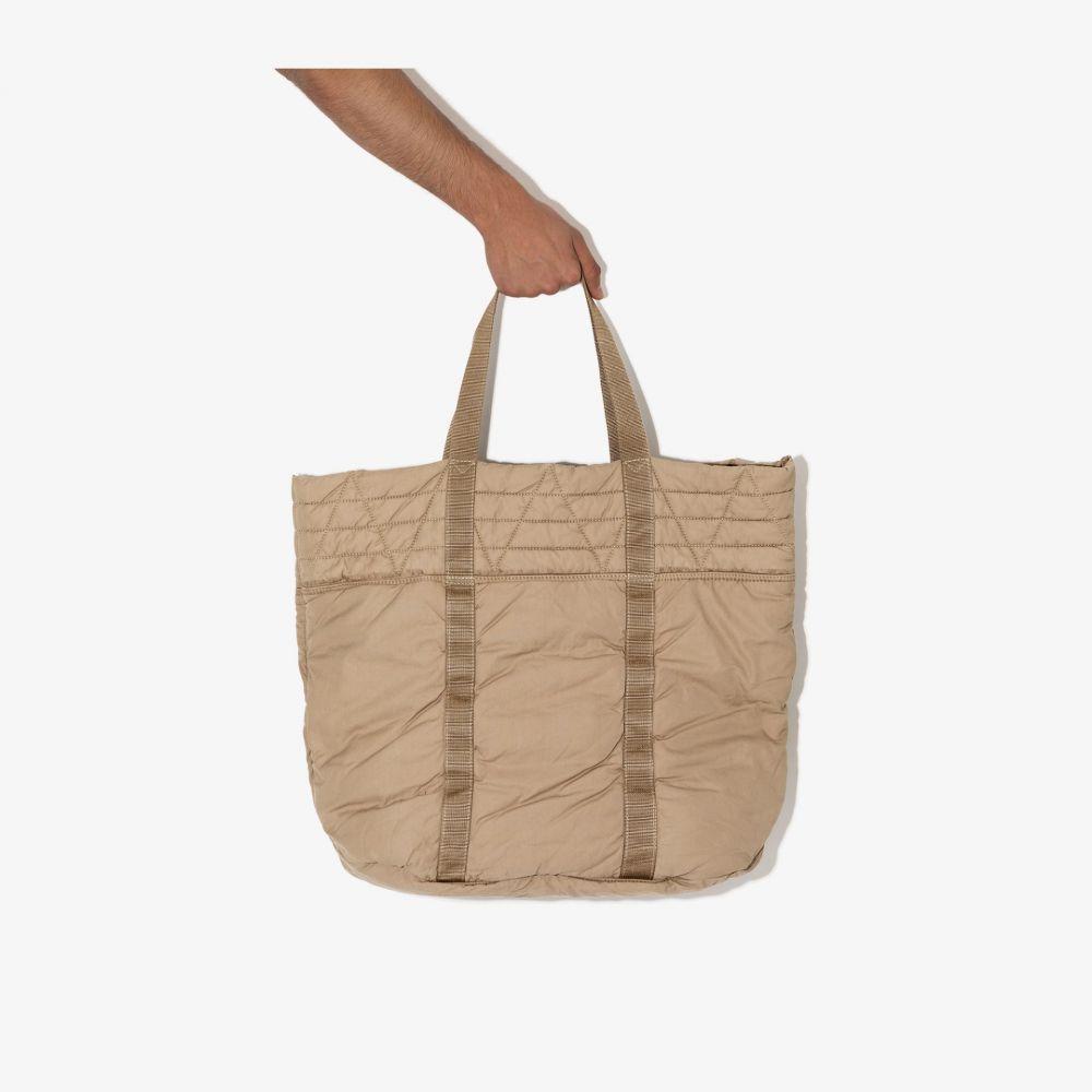 メンズバッグ, トートバッグ  visvim brown Nap quilted cotton tote bagneutrals