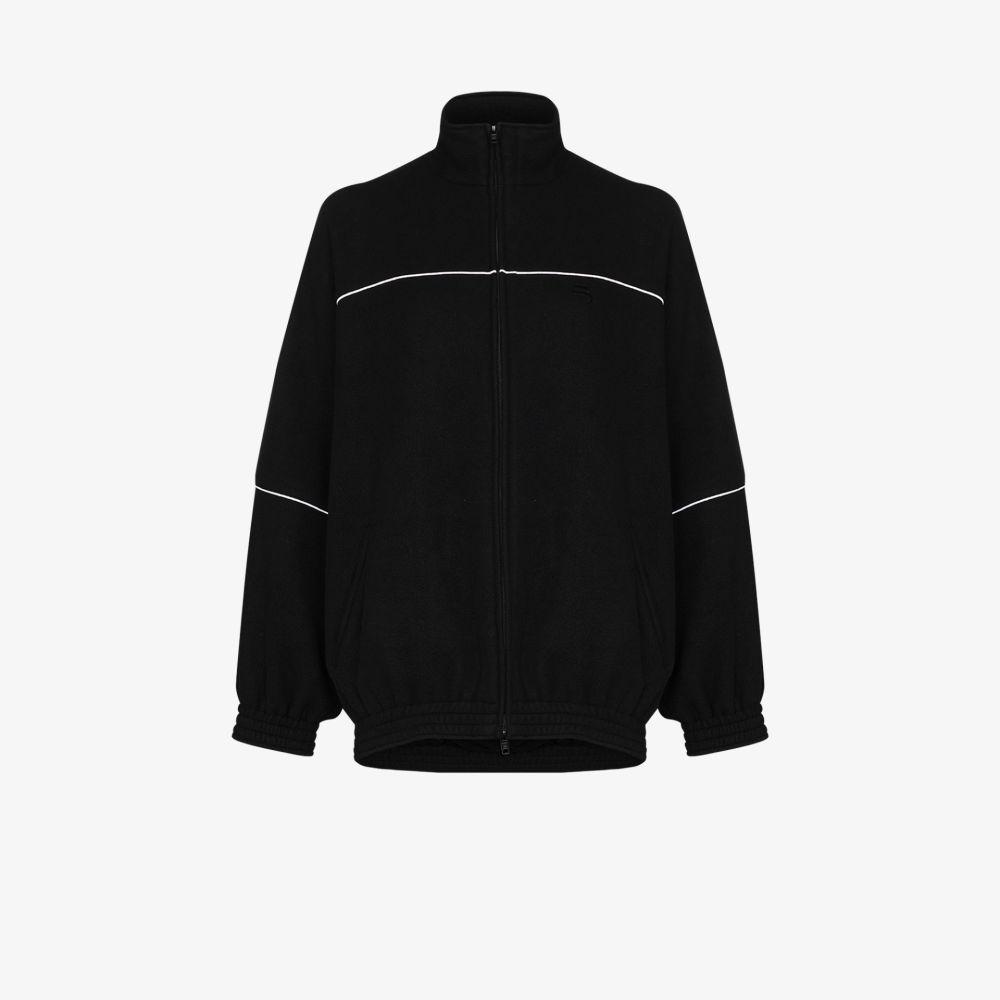 レディースファッション, コート・ジャケット  Balenciaga oversized piped sports jacketblack