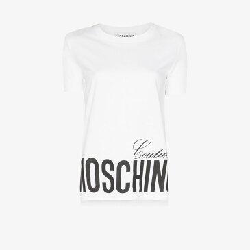モスキーノ Moschino レディース Tシャツ トップス【logo cotton T-shirt】white