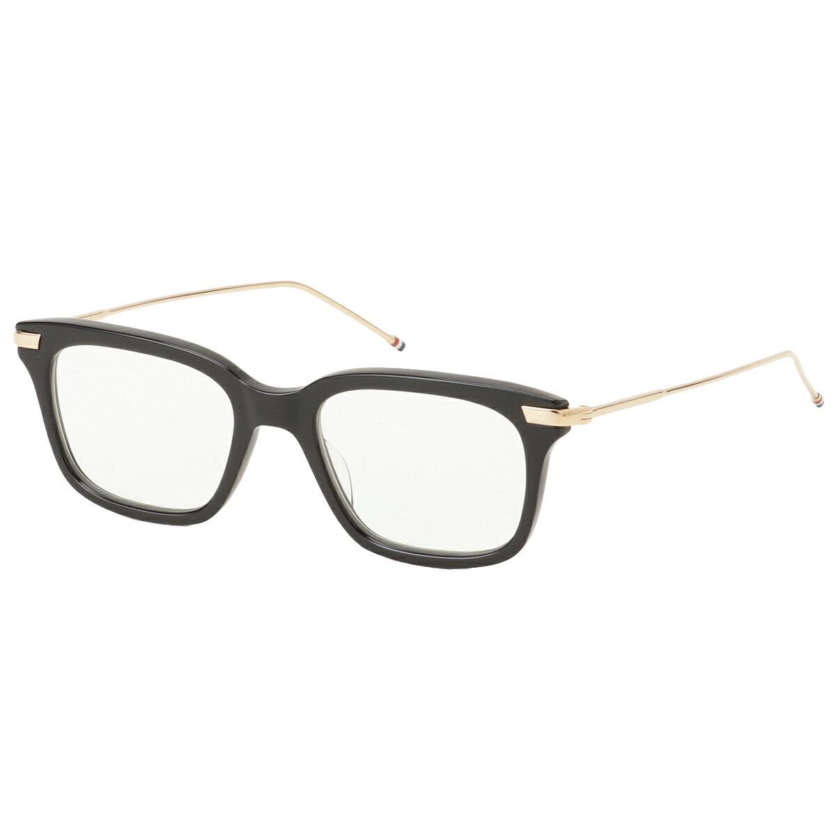 眼鏡・サングラス, 眼鏡  Thom Browne Glasses TB 701 aBlackWhite Gold