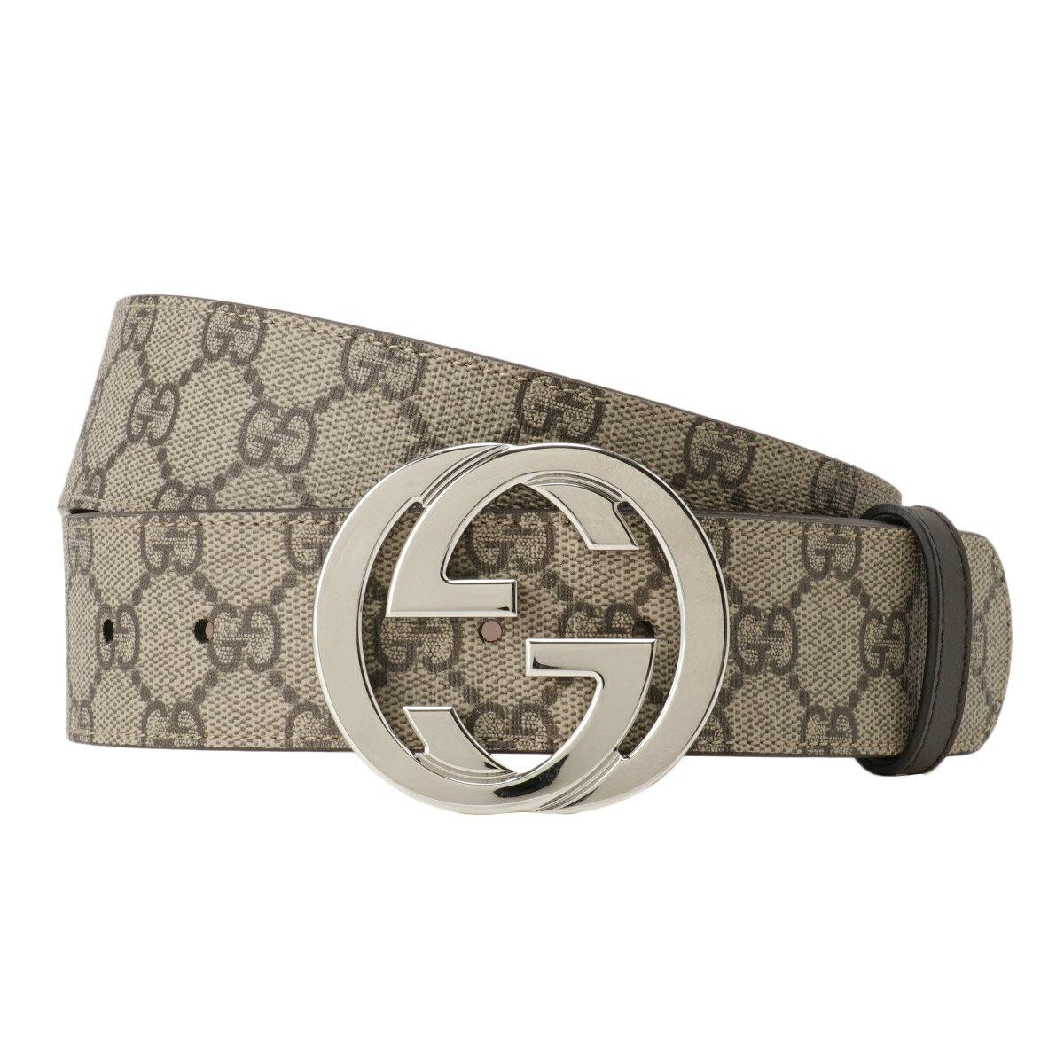 ベルト・サスペンダー, メンズベルト  Gucci GG Supreme Belt 411924 Kgdhn 9643Beige GG