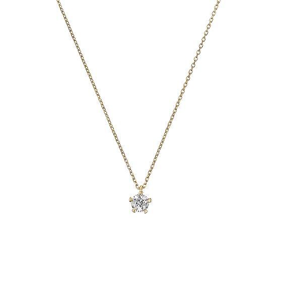 【ポイント10倍】【Wish upon a star】K18イエローゴールド ダイヤモンド0.20ct ネックレス【送料無料】【festaria bijou SOPHIA フェスタリア ビジュソフィア】