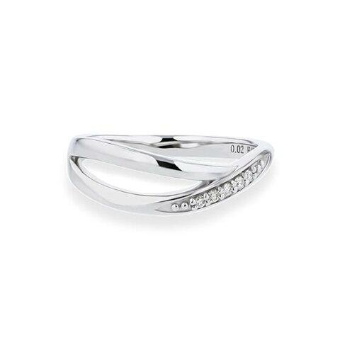 Pt900 ダイヤモンド ピンキーリング【送料無料】【festaria bijou SOPHIA フェスタリア ビジュソフィア】【指輪】【ゆびわ】