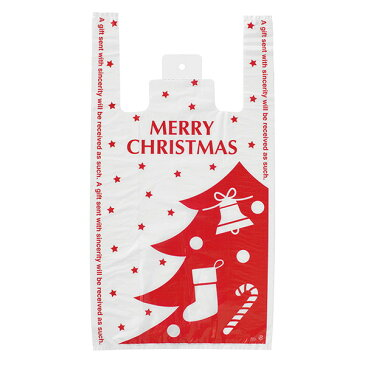 【クリスマス ラッピング】 プチキュートレジバッグ-L 100枚 603[18K17] {包装 ギフト プレゼント 子供 景品}