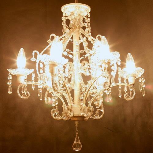 シャンデリア「 ジュエル」 アンティーク調塗装タイプ シャンデリア Jewel LED電球対応