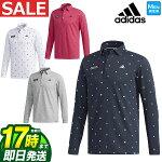 2018年秋冬新作アディダスゴルフウェアCCS77JPadicrossモノグラムL/Sシャツポロシャツ(メンズ)