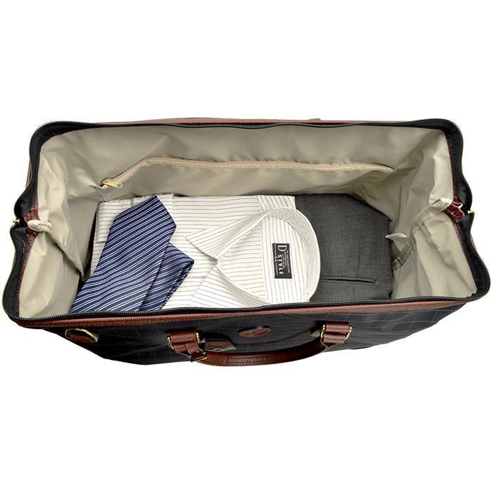 ボストンバッグ 旅行用 メンズ レディース 旅行バッグ ボストン 2泊 軽量 トラベルバッグ 旅行カバン 日本製 男女兼用 豊岡製鞄 ダレスボストンバッグ 旅行用 チェック柄 45cm #11957 ポイント10倍 hira39