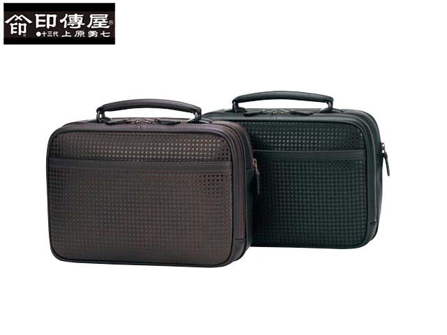 正規品 敬老の日  印伝 印傳屋 印伝 ハヤト HAYATO 手提げバッグ 和柄 8909 indn23