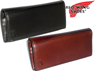 Redwing Red Wing SHOES popular brand RED WING leather leather boots fabric father's day オイルプル up long wallet purse men and women cum for men's women's Saif presents fold long wallet purse Bill slot (black) black tea (Brown) Cha 960-326 OIL PULL UP wallet