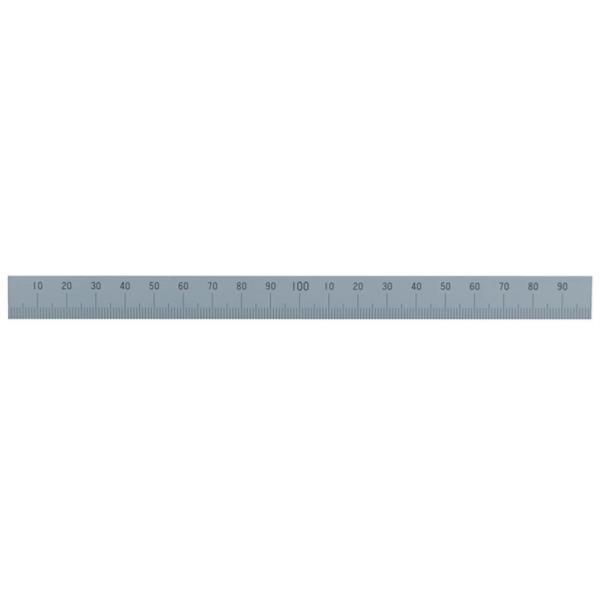 #14149 マシンスケール 200mm下段左基点目盛 穴なし (SSO10388429) 【 シンワ測定 】【QBI07】