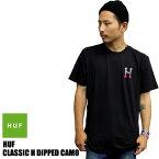 HUF ハフ 半袖Tシャツ CLASSIC H DEPPED TEE ブラック TS51031キャップ ソックス パーカー Tシャツ スケート サーフ [wht] [bk] スター H ロゴ はふ 新作 メンズ ファッション