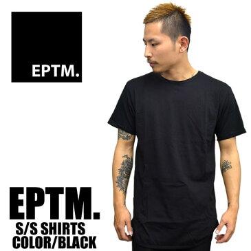 EPTM エピトミ 半袖Tシャツ ロング丈 無地 ラウンド型 メンズ ブラック レディース ファッション 大きいサイズ 白 ロング丈 夏物 春物
