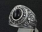 シルバーリング silver925 指輪 カレッジリング ブラックスター メンズ レディース アクセサリー シルバーアクセ メンズアクセ プレゼントに人気 送料無料