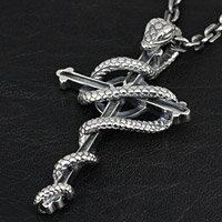 クロス 十字架 スネーク 大蛇 シルバーアクセサリー メンズ シルバーペンダント ネックレス シルバー925 メンズアクセサリー 送料無料