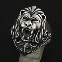 百獣の王 ライオン メンズ シルバーアクセサリー シルバーリング 指輪 シルバー925 メンズアクセ 大きいサイズ プレゼントに人気 送料無料
