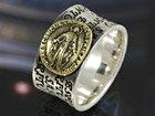 シルバーリング 指輪 silver925 真鍮 マリア アンティーク調 シルバーアクセ メンズ レディース 男女兼用 シルバー リング アクセサリー メンズアクセ 送料無料