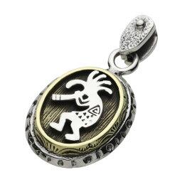ココペリ ネイティブ インディアン シルバー925 真鍮 ネックレス シルバーチェーン メンズアクセサリー 男性用 男女兼用 シルバーアクセサリー プレゼントに人気