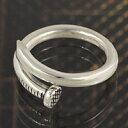 シルバーアクセサリーFIGMART提供 時計&ジュエリー通販専門店ランキング12位 釘 クギ フリーサイズ メンズ レディース シルバーリング 指輪 シルバー925 シルバーアクセサリー ペアリングに人気 送料無料