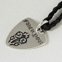 ロック ギター ピック シルバーアクセサリー 携帯ストラップ シルバー925 チャーム ペンダント ネックレス 送料無料