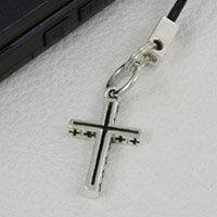 クロス シルバーアクセサリー 携帯ストラップ シルバー925 チャーム ペンダント ネックレス