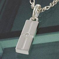 シルバー アクセサリー シルバーペンダント シルバー925 クロス ジルコニア メンズ レディース アクセサリー ネックレス プレート 十字架 ユニセックス プレゼント
