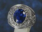 シルバーリング silver925 指輪 カレッジリング ブルースピネル メンズ レディース シルバー アクセサリー シルバー925 メンズアクセ シルバーアクセ 送料無料