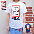 FILA(フィラ) MENS WOMENS FILA×have a good time S/STEE #01 [WHITE][NAVY]LIMITED