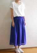 【new】裾スカラップギャザースカート型紙アレンジ使用エアリーロングスカート80ローン天日干しビンテージワッシャーキット