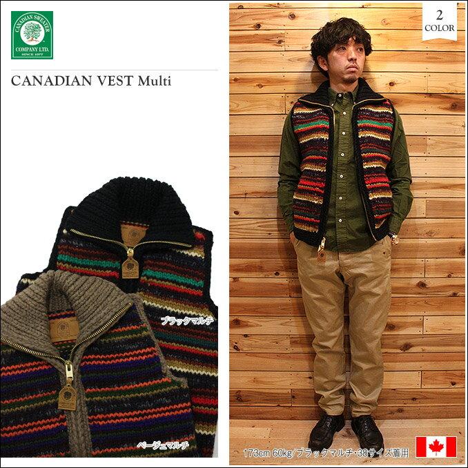 CANADIAN SWEATER(カナディアンセーター)CANADIAN VEST Multi 2color カナディアンベスト:フィルストア