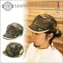 【DECHO/デコー】LEATHER CAMO CAP