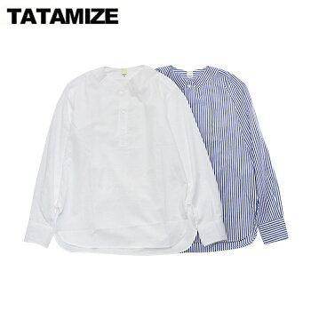 タタミゼノーカラーシャツtatamizeNoCollarShirt2color