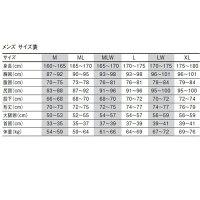 GW-6556A/3mmウェットスーツメンズサイズ表