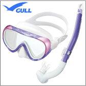 GULL(ガル) 軽器材2点セット ココマスク レイラステイブル スノーケル GM-1231 GM-1232 UVレンズ 紫外線対策 【送料無料】レディース ダイビング シュノーケリング むせにくいので スノーケルクリアや水面移動が楽