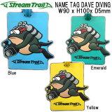 ストリームトレイル NAME TAG DAVE DIVING ネームタグ ダイビング バゲージタグ Baggeage Tag  ネコポス メール便対応可能 メーカー在庫確認します