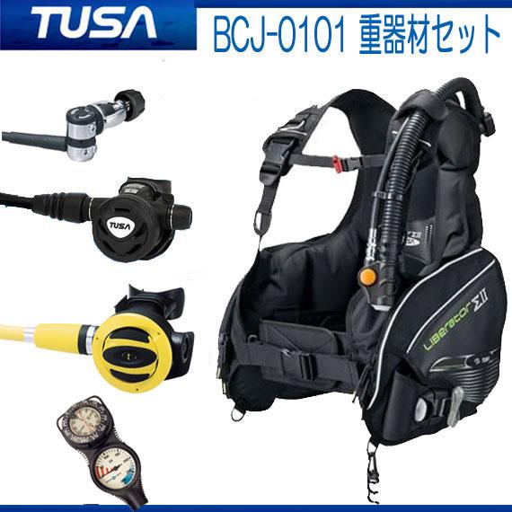 ◆重器材セット 16番 *BCD TUSA BCJ0101B *レギュ TUSA RS1103 *オクト *ゲージ アクアラング  トラスト2  ダイビング 重器材 スキューバダイビング フルセット :ダイビング専門店ファインド