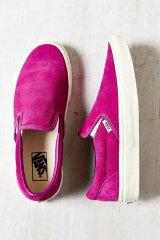バンズ Vans スリッポン スウェード仕様 Vintage Suede Classic ピンク