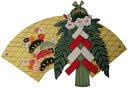 トールペイント図案付白木素材 お正月飾り しめ縄(2点セット)