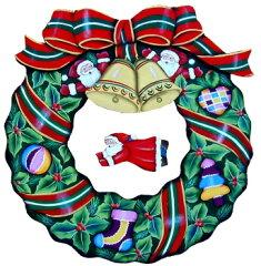 トールペイント リトルサンタのクリスマスリースセット