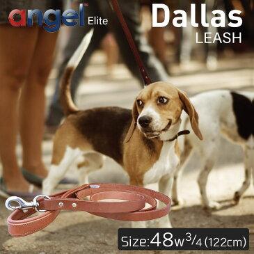 【Angel】Dallas LEASH 48インチ w3/4 リード 犬 アルゼンチン産 牛革 本革 真鍮 大型 中型 高級 錆びにくい