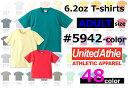 楽天【XS-XLサイズ:カラー1】UnitedAthle(ユナイテッドアスレ)6.2オンス半袖ヘビーウエイトプレミアムTシャツ・メンズ・無地Tシャツ・5942-01【1228】