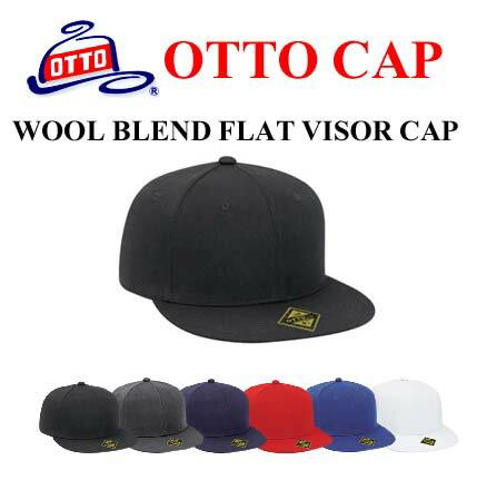 無地キャップ【OTTO FIT ウールブレンド フラットバイザーキャップ(フィットキャップ)Wool Blend Flat Visor Fitted Pro Style Caps 123-969 アジャスター無し・帽子・メンズ・レディース【607】