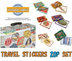 1920年代〜40年代の復刻トラベルステッカー!LUGGAGE LABELS トラベルステッカー 20枚セット【...