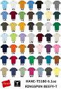 【カラー2】【アダルト・ユースサイズ】HANES(ヘインズ) 6.1oz. ビーフィーTシャツ/半袖・メンズ・ジュニア・レディースYS・YM・YL・S・M・L・XL(HANE-T5180)(0404)