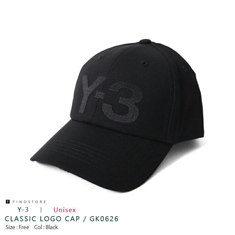 メンズ帽子, キャップ  (Y-3 CLASSIC LOGO CAP) GK0626 BLACK YOHJI YAMAMOTO adidas