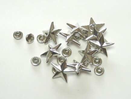 金具 パーツ類>飾りカシメ カテゴリページ>飾りカシメ(1ページ)>飾りカシメ星(カット)>飾りカシメ星(カット)U25500 17mm