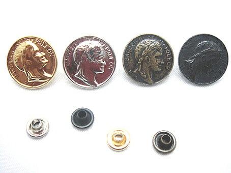 飾りカシメ コイン アンティーク